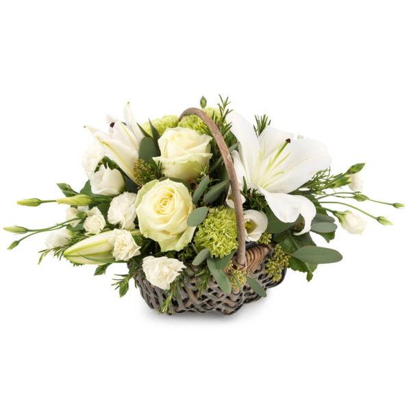 Wit bloemstuk